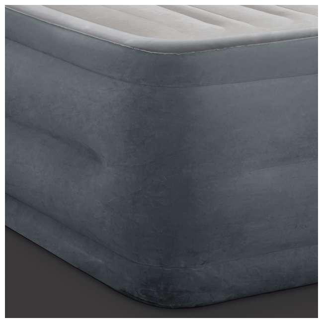 3 x 64417EP Intex High Rise Dura Beam Air Bed Mattress w/ Built-In Pump, Queen (3 Pack) 6