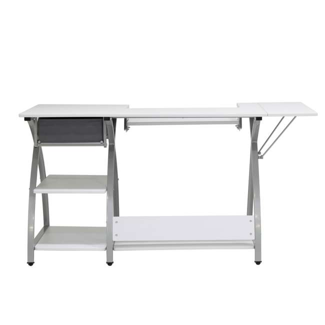 STDN-38018 Sew Ready STDN-38018 Venus Sewing Machine Craft Table Computer Desk, Silver 11