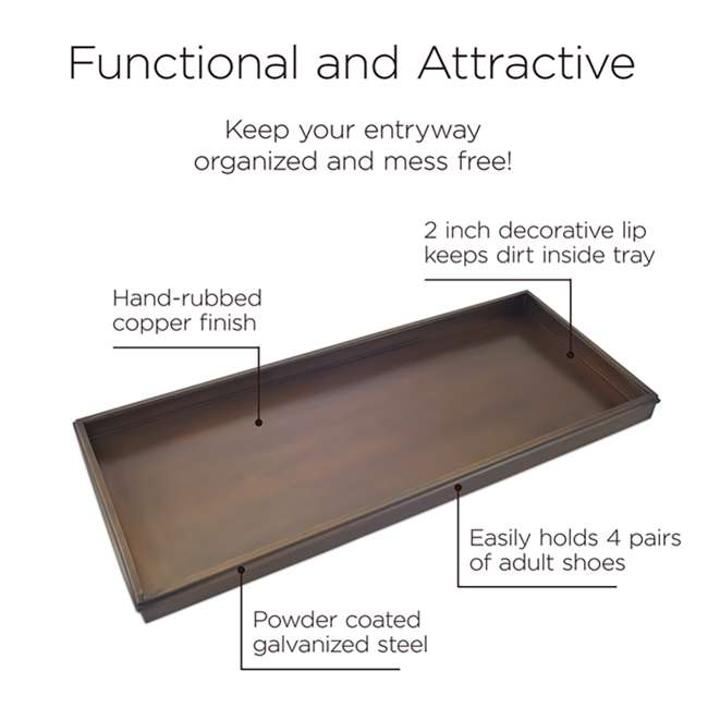 120VB Good Directions 120VB Multi Purpose Galvanized Steel Classic Shoe Tray, Brown 2