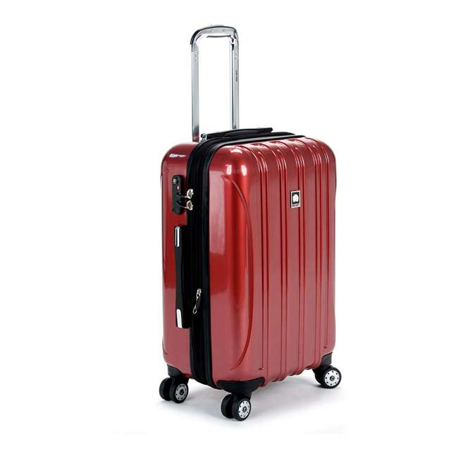 07644RD DELSEY Paris Helium Aero Expandable Rolling Carry On Luggage Suitcase, Brick Red