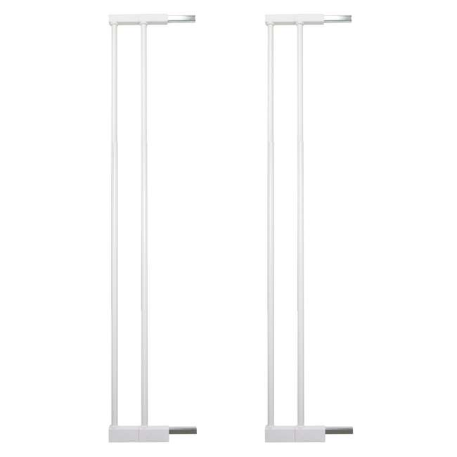 BBD-50914-2490 + BBD-5834-2400 BabyDan Scandinavian 31 Inch Pet Safety Gate & 2-Pack Gate Extensions, White 2