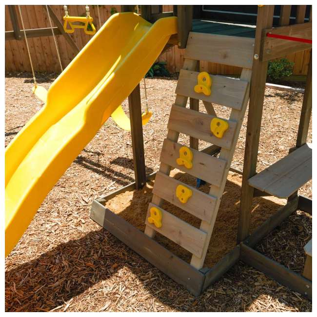 KDK-F29015 KidKraft Newport Wooden Playset with Swings and Slide  8