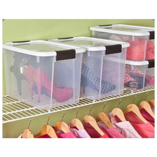 54 x 19859806-U-A Sterilite 30 Quart Ultra Latch Storage Box w/ White Lids (Open Box) (54 Pack) 1