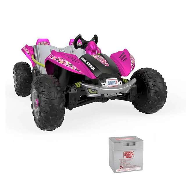 FLP27 + 74777 Power Wheels Battery Toy Car w/ Extra 12 Volt Rechargable Replacement Battery