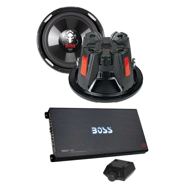R5004 + 2 x P126DVC Boss R5004 2000W 4-Channel Amplifier with 2) Boss P126DVC 12-Inch 4600W Subwoofers (Pair)
