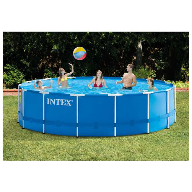"28241EH-U-A Intex 15' x 48"" Above Ground Pool Set w/ Pump Cover&Ladder(Open Box) (2 Pack) 1"