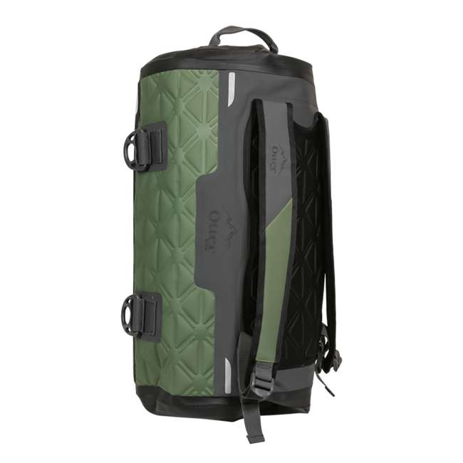 77-57793 Yampa 35 Liter Dry Duffle Waterproof Backpack Bag, Alpine Ascent Green and Gray