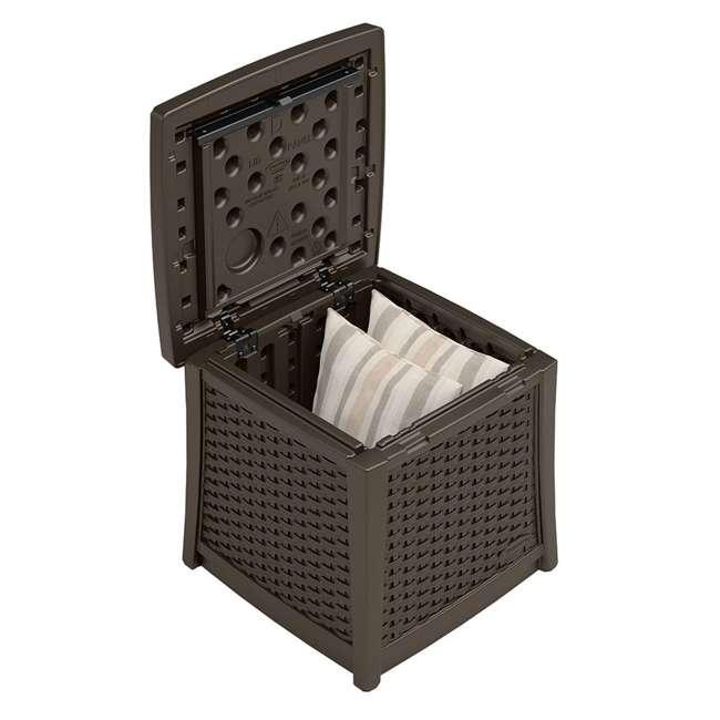 BMDB1310-U-A Suncast Elements 13-Gallon Patio End Table with Storage, Java (Open Box) 1