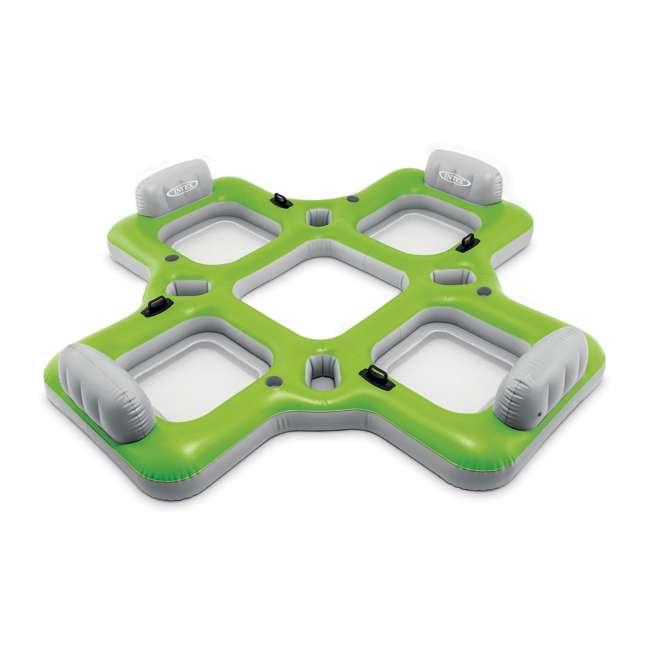 57283WL Intex Lounge Island 4-Seat Inflatable Pool Float, Green 1