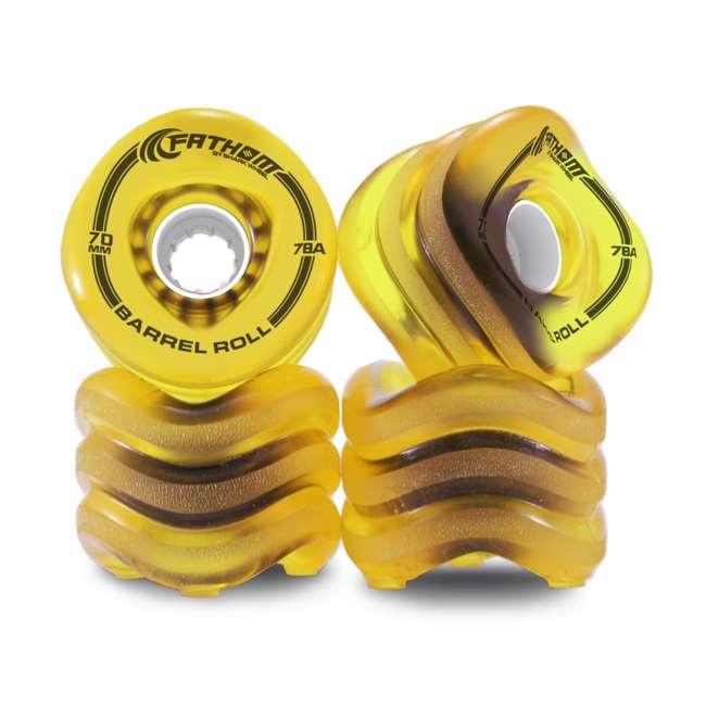8934 Fathom by Shark Wheel 70MM Barrel Roll Wheel Set, Amber