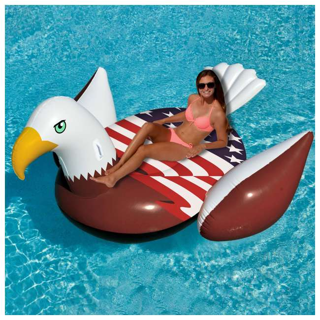 90700 Giant Patriot Eagle Swimming Pool Float 7