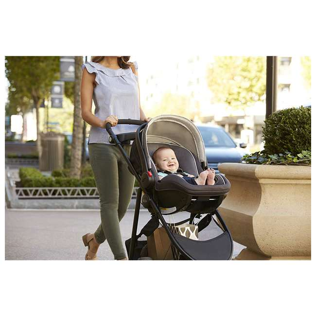 2065964 Graco 2065964 SnugRider 3 Elite 3 Wheel Portable Infant Car Seat Carrier, Black 4