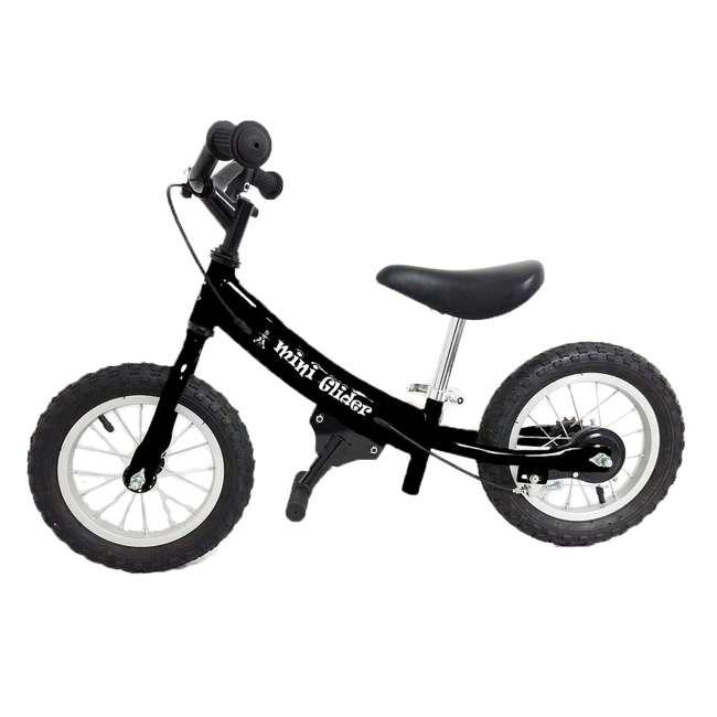 MG12-BK Glide Bikes Mini Glider 12 Inch Kids Balance Bike Bicycle, Ages 2 to 5, Black