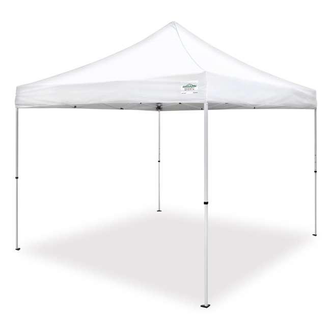 CVAN21008100010 Caravan Canopy M-Series Pro 2 10 x 10 Straight Leg Canopy, White