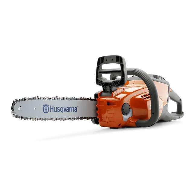 HV-CS-967098102 + HV-TOY-522771104 Husqvarna 14-Inch Brushless Chainsaw and 440 Toy Childrens Chainsaw, Orange 1