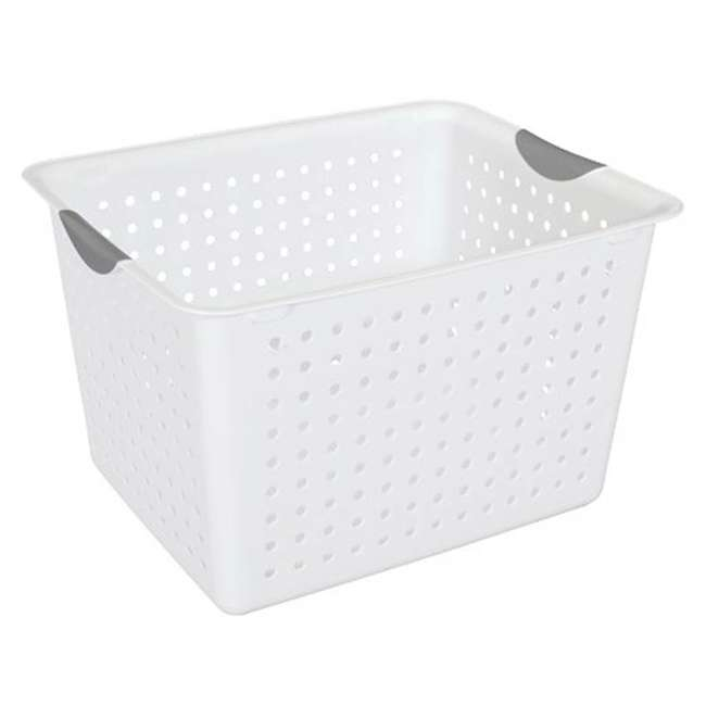 24 x 16288006-U-A Sterilite Deep Ultra Plastic Storage Bin Baskets - White (Open Box) (24 Pack)