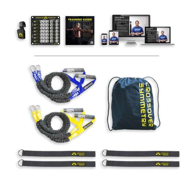 IESRS2 Crossover Symmetry Individual Exercise Package with Squat Rack Straps, Elite