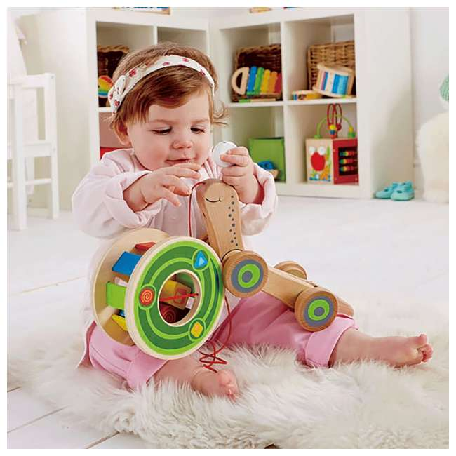 HAP-E0349 Hape Walk-A-Long Snail Wooden Push and Pull Toy 5