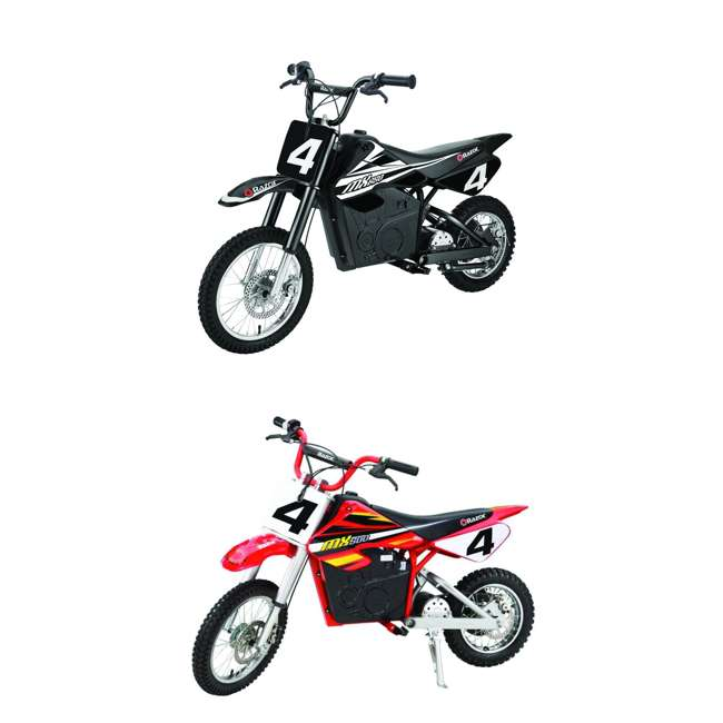 15165001 + 15128190 Razor MX650 Electric Dirt Rocket Bike + Razor MX500 Dirt Rocket Electric Bike