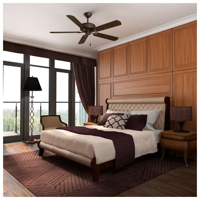 55002 Casablanca Ainsworth 60 Inch Indoor Ceiling Fan w/ Pull Chain, Provence Crackle 4