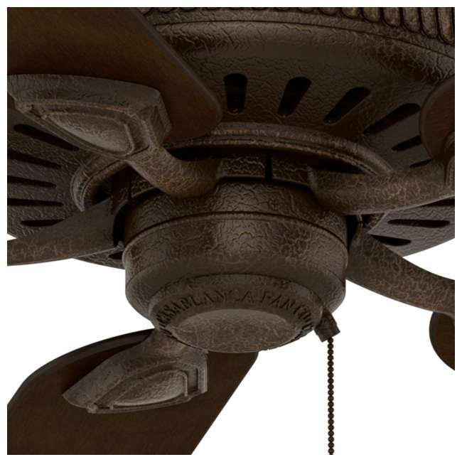 55002 Casablanca Ainsworth 60 Inch Indoor Ceiling Fan w/ Pull Chain, Provence Crackle 3