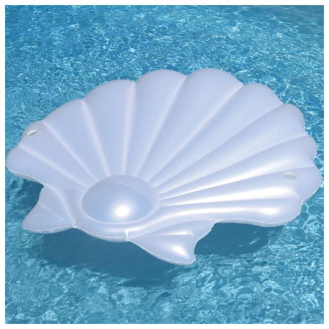 Swimline Giant Inflatable Seashell Island Lounger Float