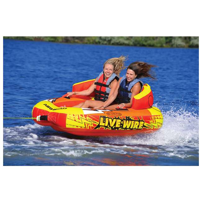 AHLW-2-OB Airhead Live Wire 2 Inflatable 1-2 Rider Towable Tube | AHLW-2 (Open Box) 1