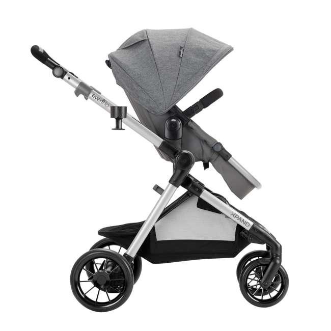 13812254 Evenflo Pivot Xpand Full Size Modular Convertible Baby Stroller, Percheron Gray 3