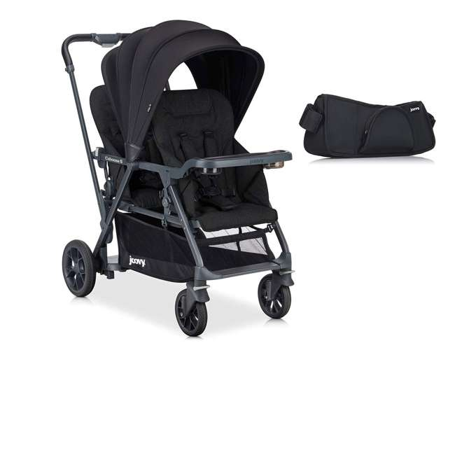 8217 + 9111 Joovy Folding Sit and Stand Double Stroller w/ Parent Organizer