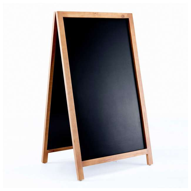 VC113-B VersaChalk VC113-B A-Frame Rustic Wood Indoor Outdoor Free-Standing Chalkboard