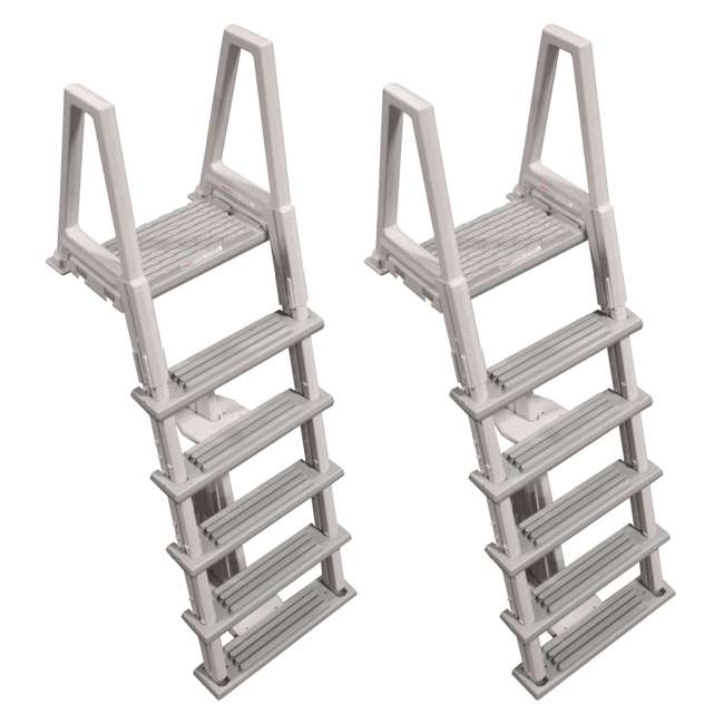 6000X Confer 46-56 Inch Swimming Pool Ladder (2 Pack)