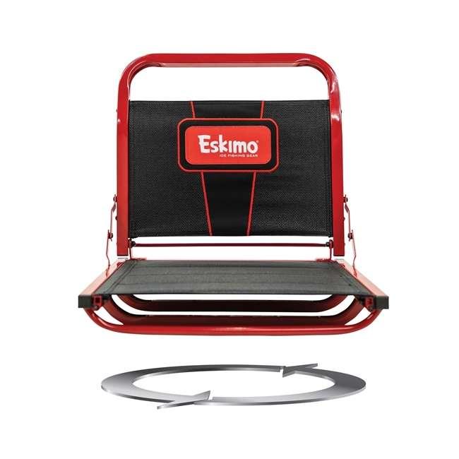 ESK-22100 Eskimo ESK-22100 Evo Crossover 1-Person Flip-Style Ice Fishing Tent Shelter, Red 3