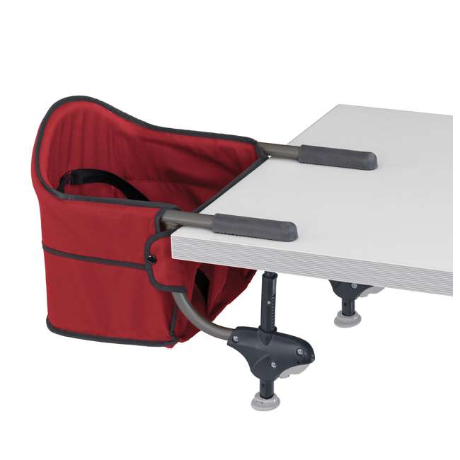 CHI-0407913670 Chicco Portable Folding Travel Baby Feeding Hook On Table High Chair Seat, Red