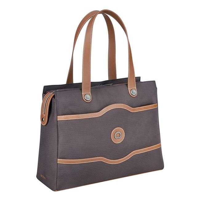 40177435006 DELSEY Paris Women's Chatelet Designer Soft Air Travel Shoulder Bag, Chocolate