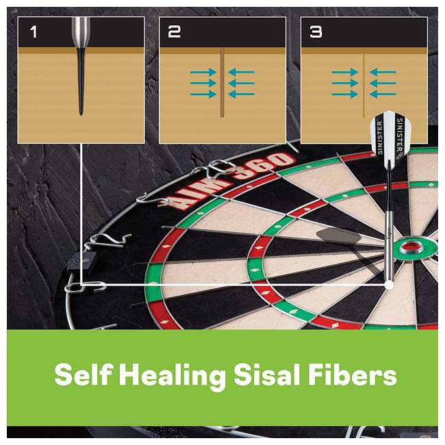 42-6008 Viper AIM 360 Sisal Self Healing Practice Dartboard w/ Removable Aiming Circles 6