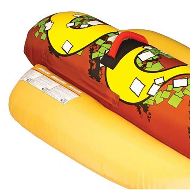 3 x 53-3055 Sportsstuff Hot Dog 2 Person Towable Tube (3 Pack) 3