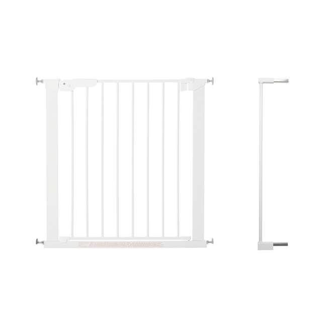 """BBD-60114-5492 + BBD-58014-5400 BabyDan Premier 28.9-36.7 Inch Baby Gate & Extend A 2 x 2.6"""" Gate Kit, White"""