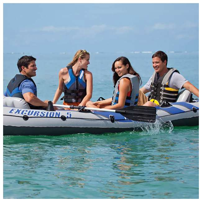 68325EP Intex Excursion 5 Inflatable Boat Set 3