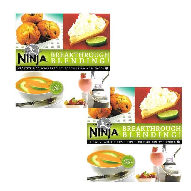 XPB600W Ninja Breakthrough Blending! 150 Recipe Blender Cookbook (2 Pack)