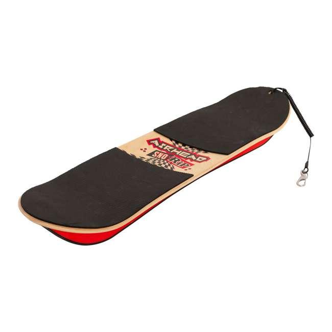 AHSS-04 Airhead AHSS-04 Snow Rip Hard Wood 31 Inch Snow Skate Skateboard Snowboard, Red