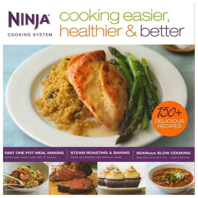 XC701K3 + CB700 Ninja Roaster Utensil Kit + Cooking Easier, Healthier, & Better 150 Recipe Book 6