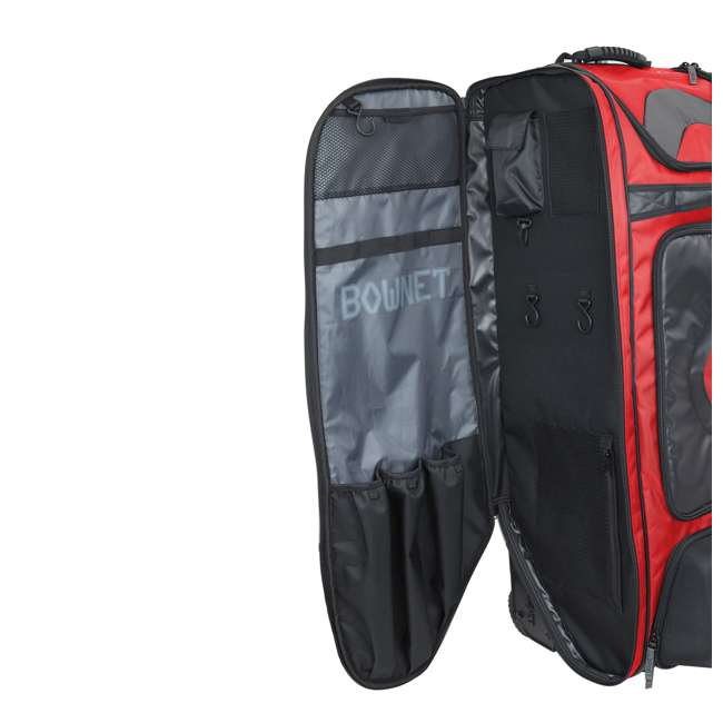 BN-COMMANDER BAG S Bownet The Commander Baseball Softball Catcher's Bag, Red 2