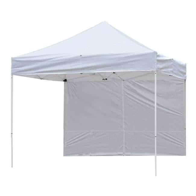 ZS10PKSSWTWH-U-A Z-Shade 10' White Instant Canopy Tent Sidewall Accessory Only (Open Box)(2 Pack) 3