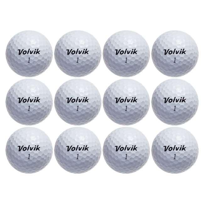 10 x DS-55 (White) Volvik DS55 Dual Spin Golf Balls, White (10 Packs of 12) 2