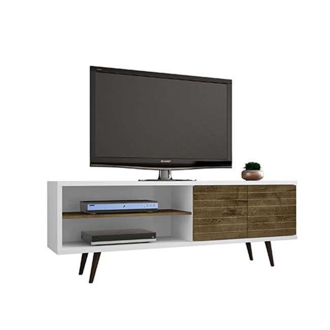 201AMC69 Manhattan Comfort Liberty 62.99 Inch Mid Century Modern Wood TV Stand with Legs 1