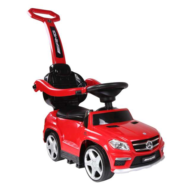 4 in 1 Mercedes Push Car Red Best Ride On Cars Baby 4 in 1 Mercedes Toy Push Vehicle, Stroller, & Rocker, Red