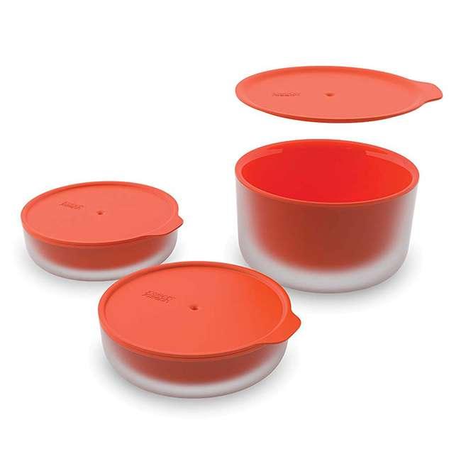 45010-JJ Joseph Joseph M Cuisine Cool Touch 3 Piece Microwave Cookware Bowl Set, Orange  1