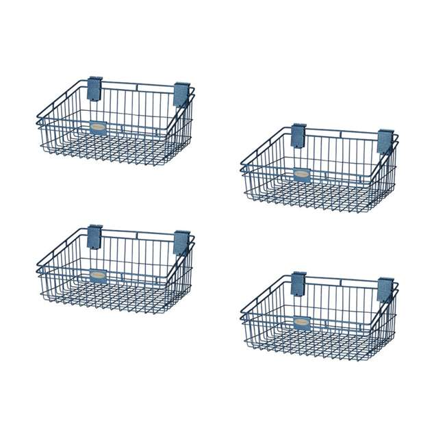 4 x MB1218 Storage Trends 12 x 18 Inch Wire Basket, Blue (4 Pack)