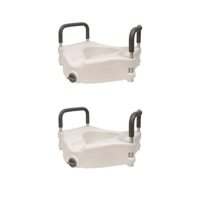 59013-TSEAT Clamp-On 4.5 Inch Raised Toilet Seat with Handles (2 Pack)