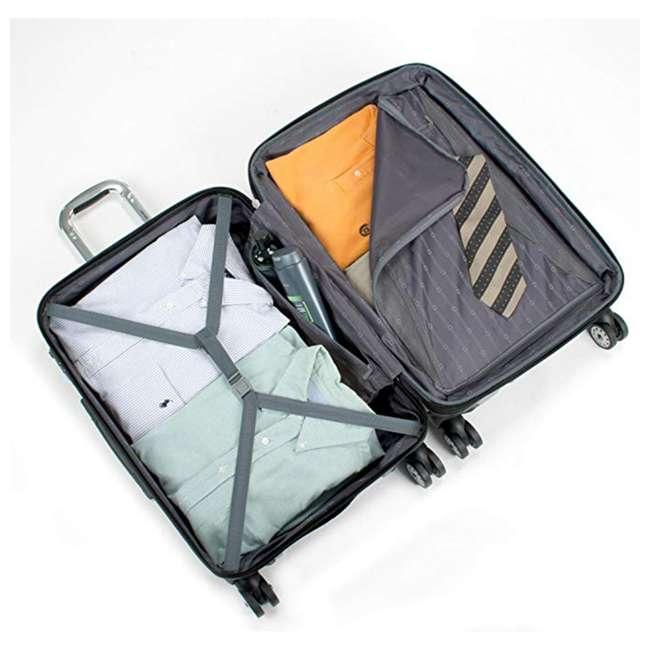 07647PL DELSEY Paris Helium Aero Expandable Medium Carry On Luggage Suitcase, Titanium 2